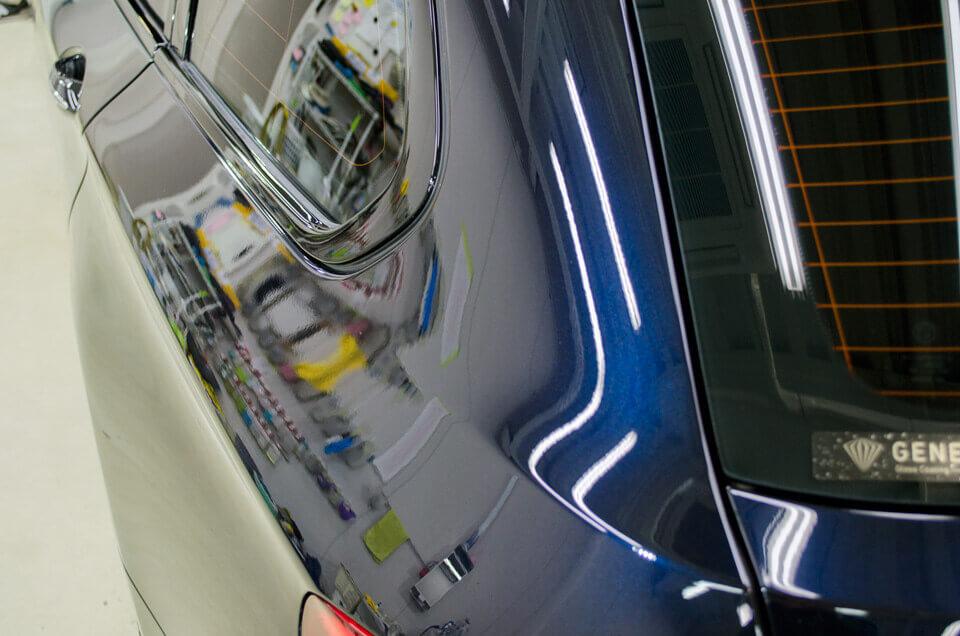 BMW 528i f10の研磨後。クリアなボディに。