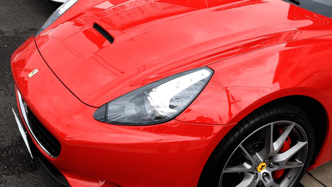 ボディーコーティングを施工したフェラーリ カルフォルニア Ferrari California