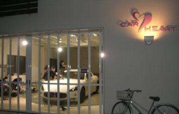 Maserati グラントゥーリズモ Sビアンコにボディコーティングの研磨をしているところ