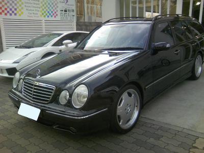 ボディコーティングを施工したメルセデス ベンツ E55