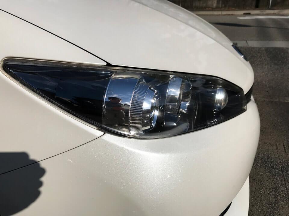 ヘッドライトコーティングを施工した後のTOYOTA WISHのヘッドライト