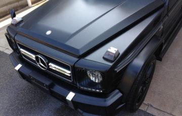 GENESISガラスコーティングとプロテクションフィルム、ラッピングを施工したMercedes-Benz G63AMGのマットブラック