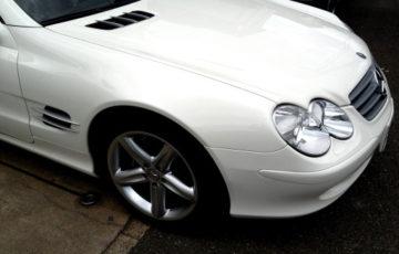 コーティングで綺麗になったMercedes-Benz SL500
