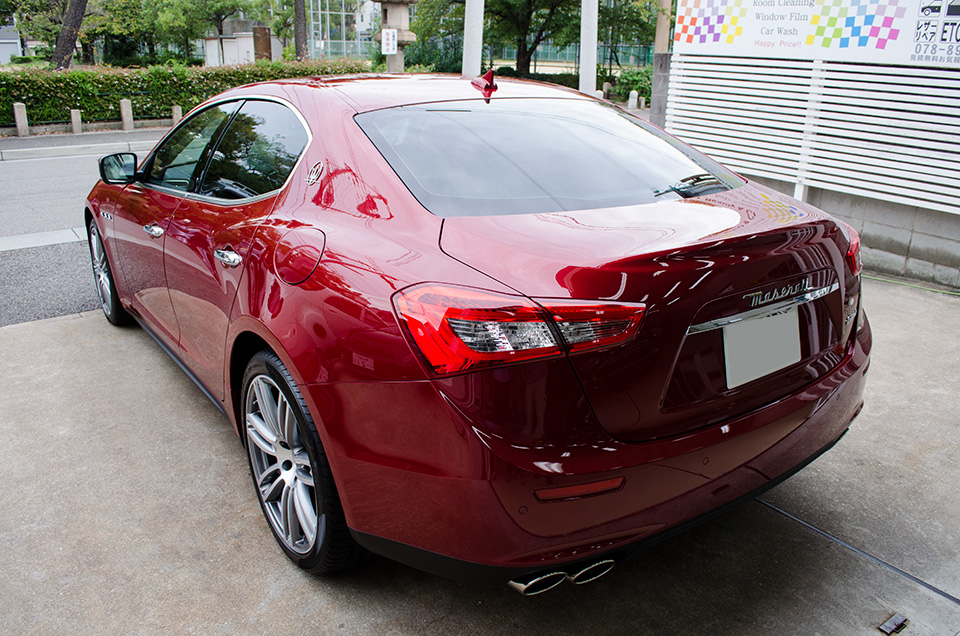 film red Maserati