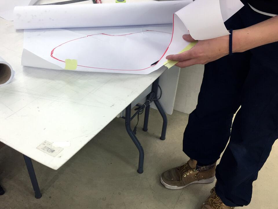AlfaRomeoCSpiderのヘッドライトに貼るプロテクションフィルム