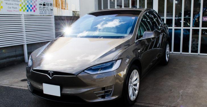 Tesla Model XのGENESISコーティングを施工したあと