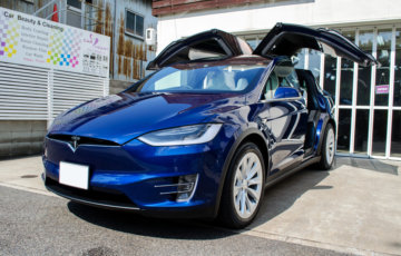 bule tesla model bodycoating