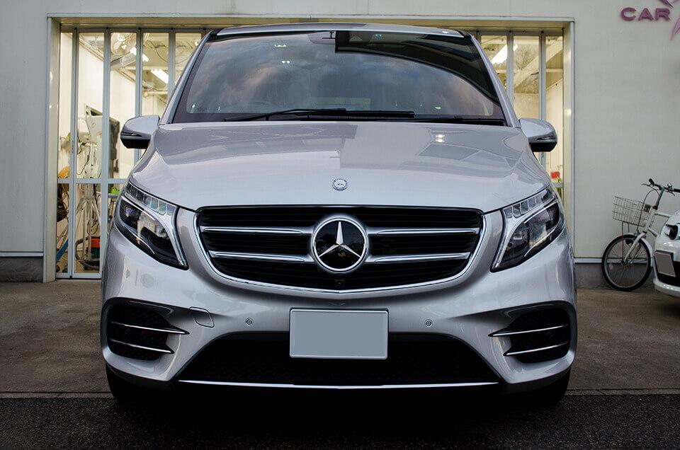 GENESISガラスコーティング,ホイールコーティング,ウィンドウ撥水コーティングを施工した Mercedes-Benz v220d