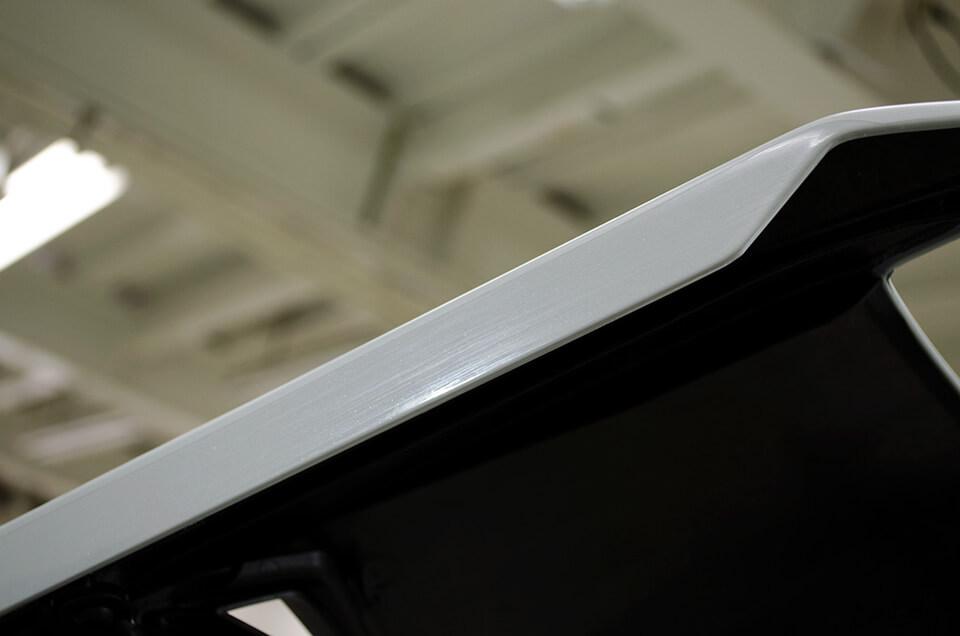 Lamborghini HURACÁN PERFORMANTE ランボルギーニ ウラカン ペルフォルマンテにボディコーティングを施工している所