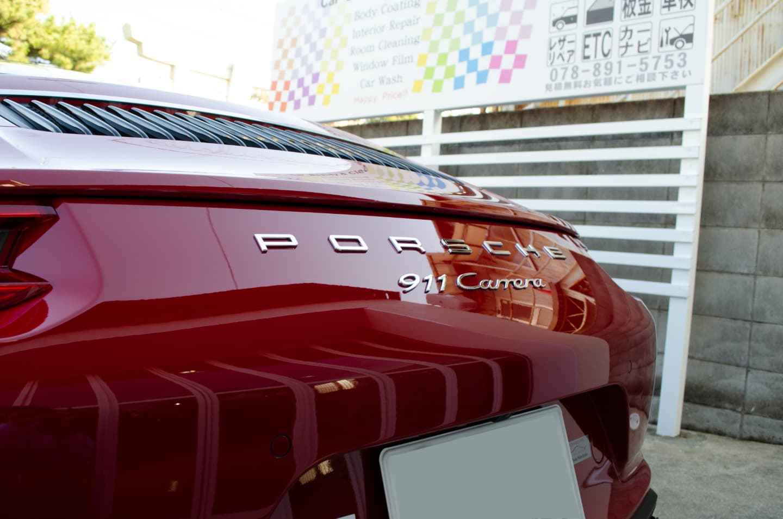 GENESIS STELLA ガラスコーティングとレザーコーティングを施工したPORSCHE 911 Carrera Cabriolet