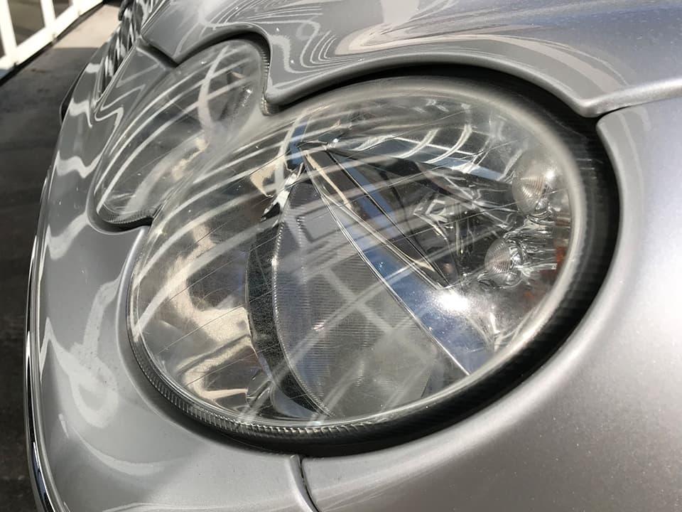 Mercedes_Benz_AMG CLK55にヘッドライトアクリル樹脂コーティングを施工する前