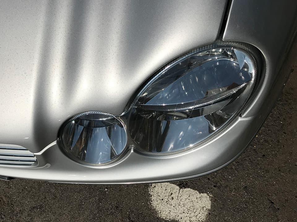 Mercedes_Benz_AMG CLK55にヘッドライトアクリル樹脂コーティングを施工したあと