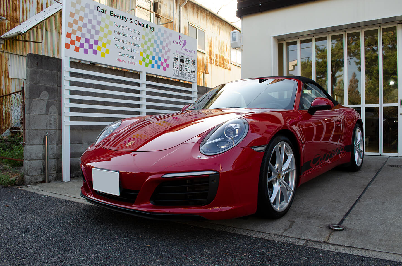 GENESIS STELLA ガラスコーティングを施工したPORSCHE 911 Carrera