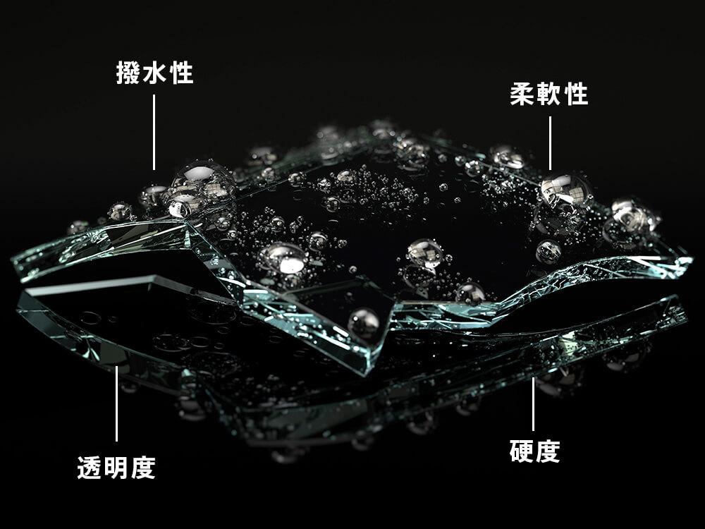 撥水性・柔軟性・透明度・硬度に優れたKUBEBOND DIAMOND9Hのセラミックフィルム
