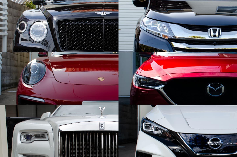 CARHEARTがコーティングなどを施工したBENTLEY BENTEGA V8,PORSCHE 911,Rolls Royce Down,HONDA ODYSSEY,MAZDA CX-5,NISSAN LEAF NISMO