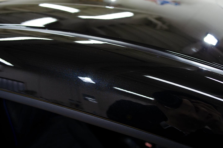 コーティングを施工した日産 セレナ ダイヤモンドブラック(スクラッチシールド)のルーフ