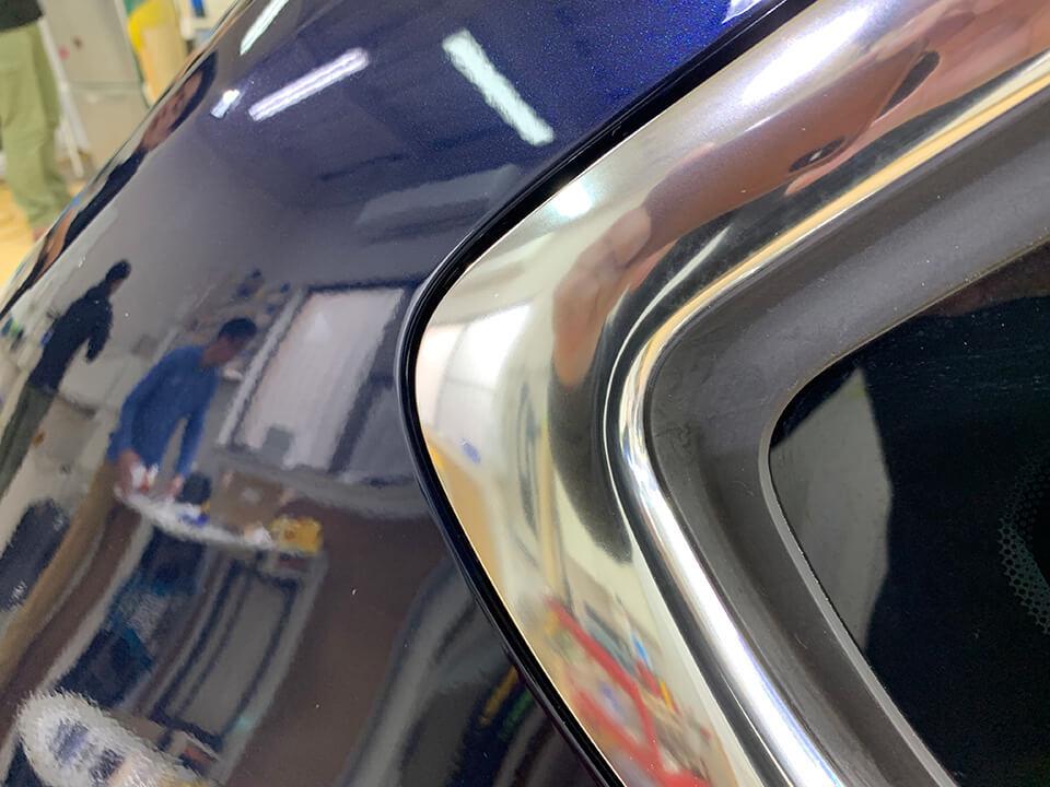 メッキモール磨き+コーティングで綺麗になったBMW F31のメッキモール
