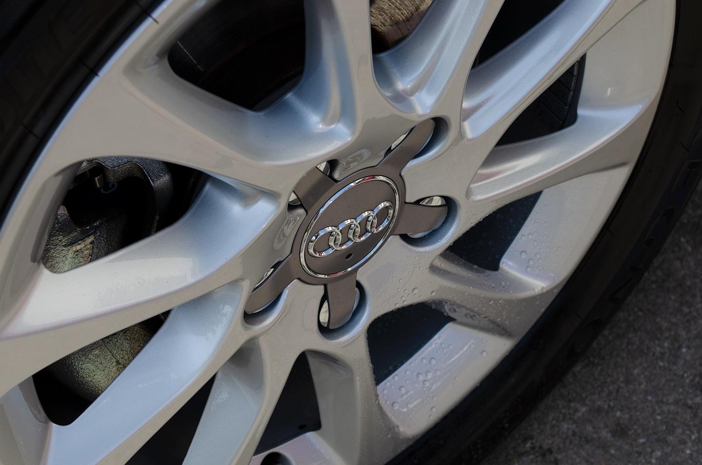 コーティングを施工した Audi A3のホイール