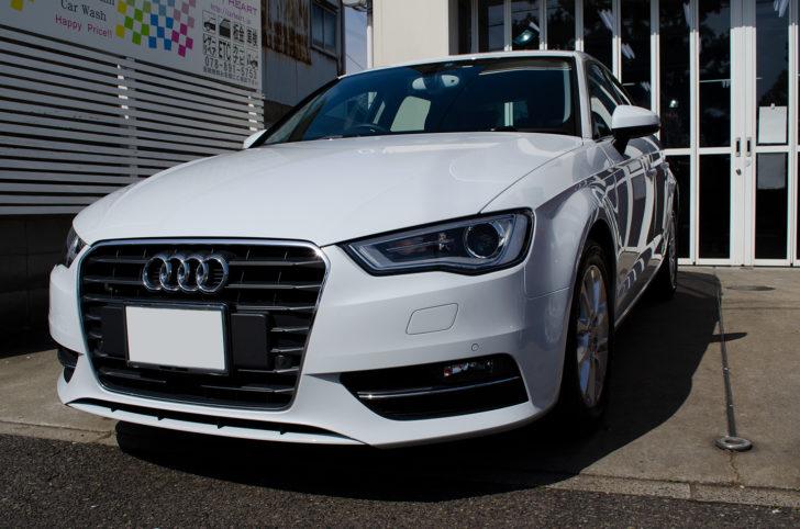 コーティングを施工した Audi A3