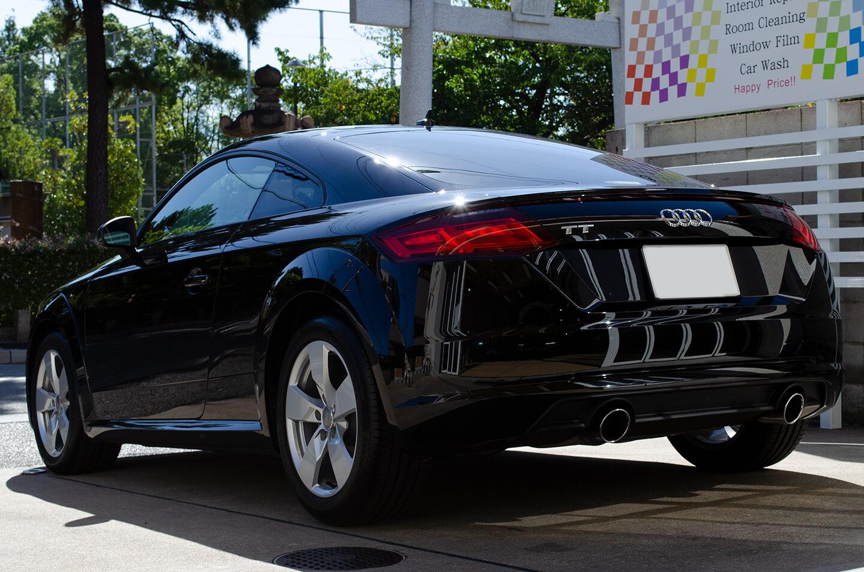コーティングを施工したH30年式 3代目 Audi TT Coupé  ミトスブラックメタリック