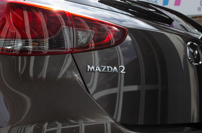 コーティングを施工したMAZDA2 チタニウムフラッシュマイカ