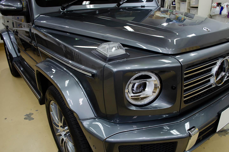 コーティングを施工したメルセデス・ベンツ G350d(W463) セレナイトグレー