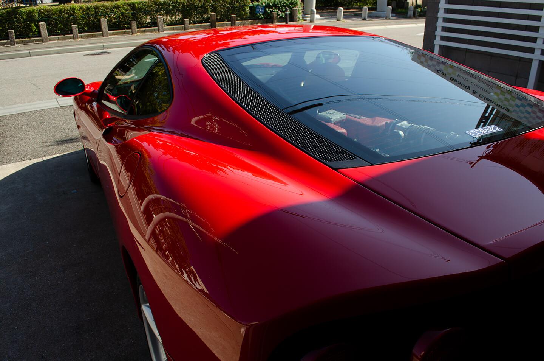 コーティングを施工した360モデナ(フェラーリ)のリア