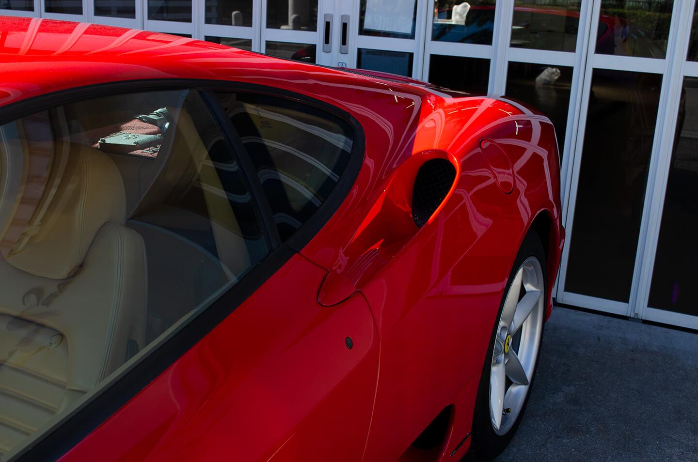 コーティングを施工した360モデナ(フェラーリ)
