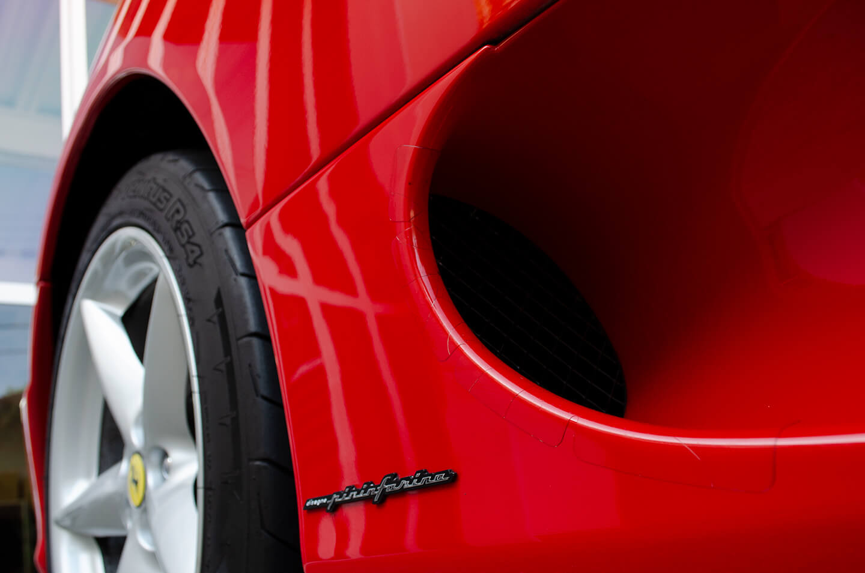 コーティングを施工した360モデナ(フェラーリ)のダクト