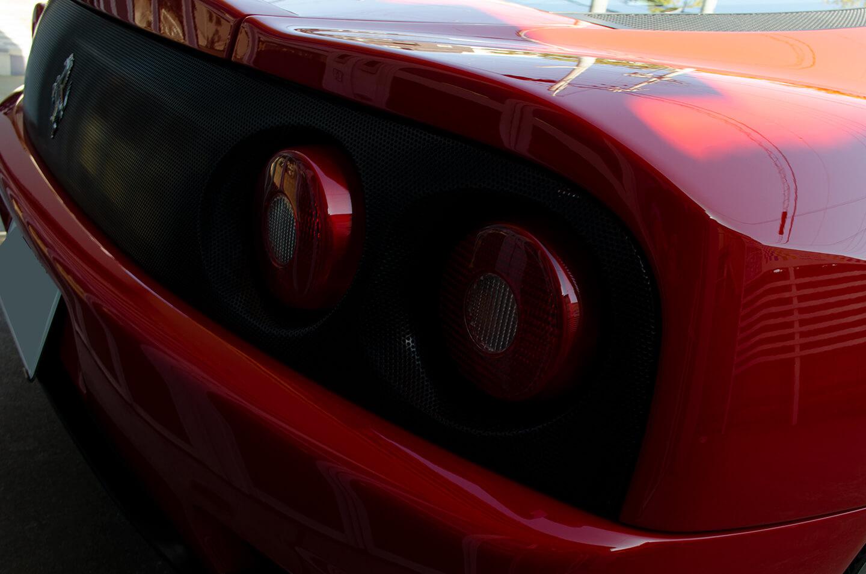 コーティングを施工した360モデナ(フェラーリ)のテールランプ周り