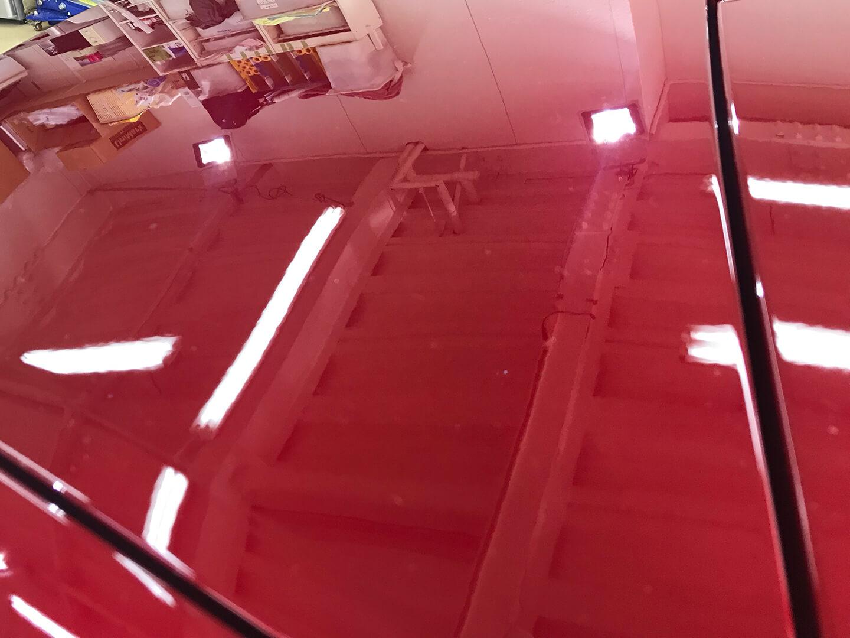 コーティングを施工する前のMAZDA  ロードスター  ソウルレッドクリスタルメタリック