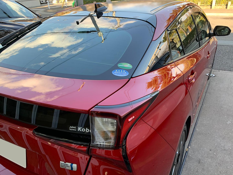 コーティングを施工したトヨタ プリウス