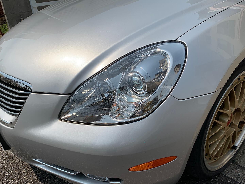 レクサス SC430のヘッドライト