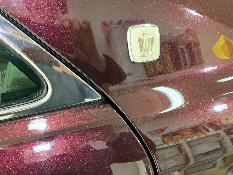 コーティングを施工する前のH22年式 トヨタ クラウン ロイヤルサルーン ブラキッシュレッドマイカ