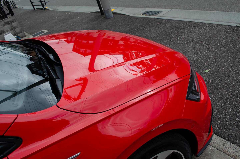 コーティングを施工したフォルクスワーゲン Polo GTIフラッシュレッド(D8)
