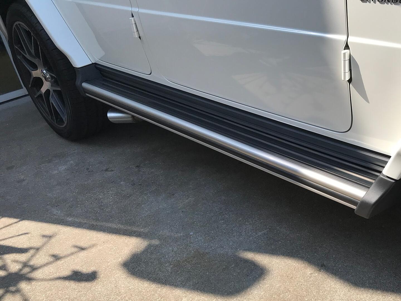プロテクションフィルムを施工したメルセデス AMG G63のサイドステップ