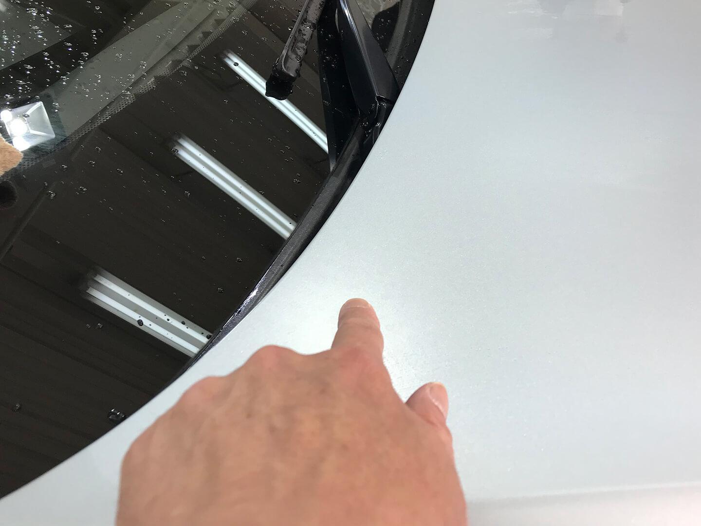 BMW M6のマットシルバーについていたシミ