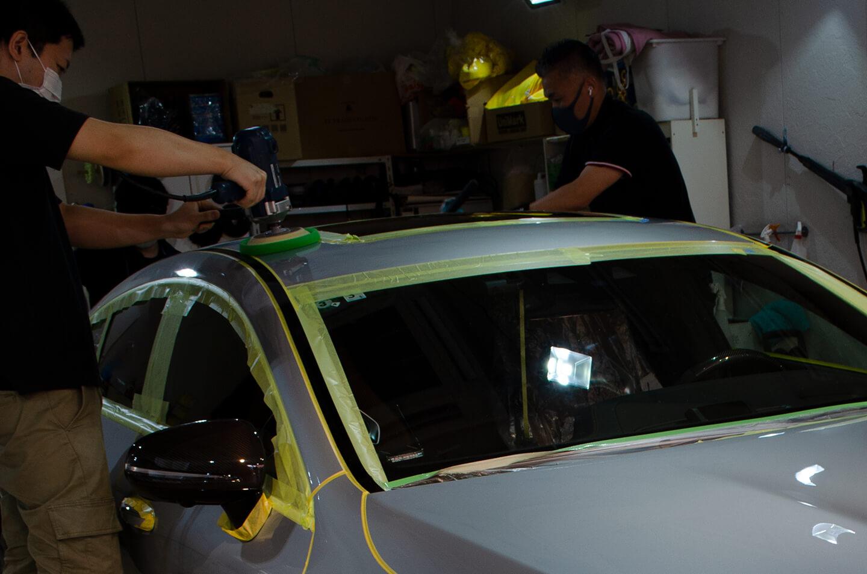 AMG GT 63Sを磨いているところ