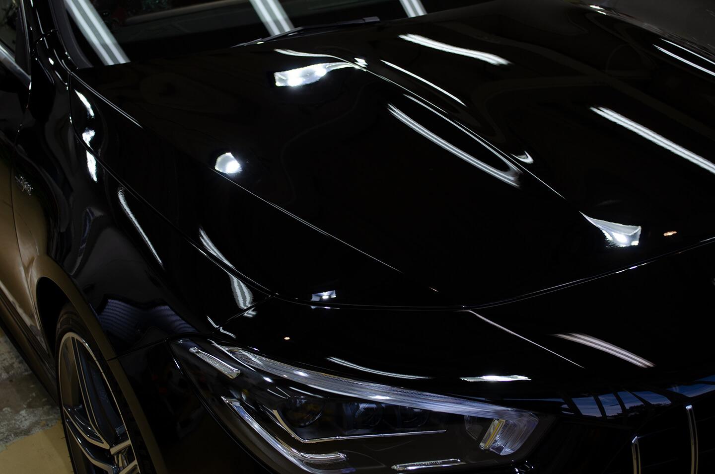 セラミックコーティングを施工したメルセデス AMG CLA 45S