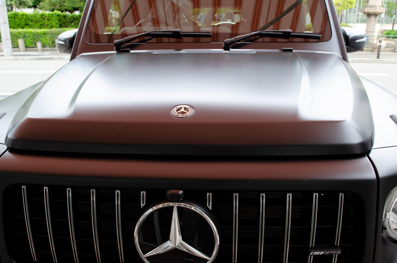 コーティング施工前のメルセデス AMG G63 エディション マットブラック