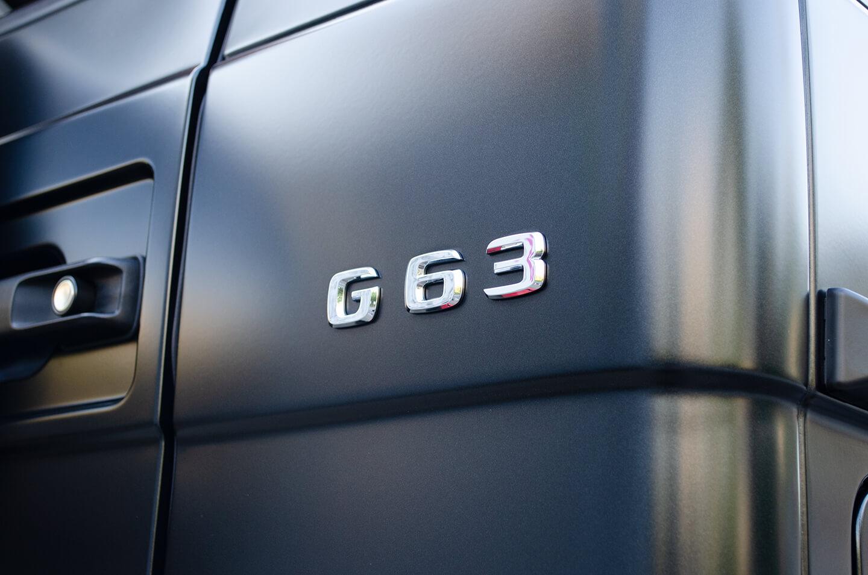 コーティングを施工したメルセデス AMG G63 マットブラック