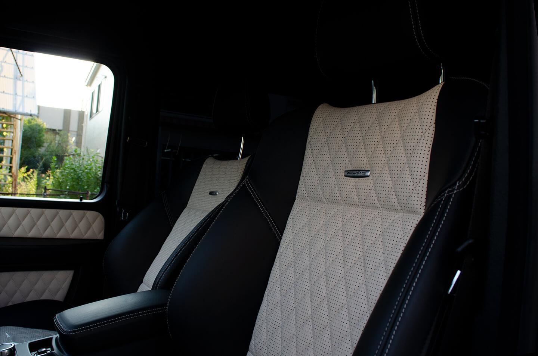 コーティングを施工したメルセデス AMG G63 マットブラックのレザーシート