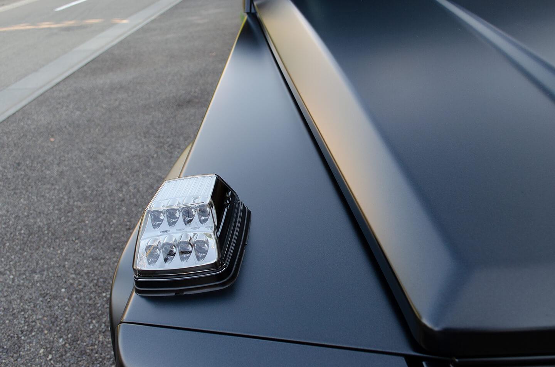 コーティングとプロテクションフィルムを施工したメルセデス AMG G63 マットブラック