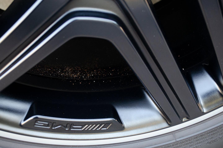 コーティングを施工したメルセデス AMG G63 マットブラックのホイール