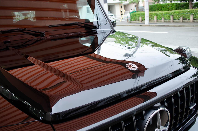 コーティングを施工したメルセデス AMG G63 オブシディアンブラック