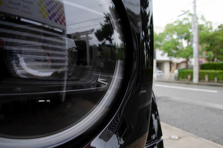 プロテクションフィルムを施工したメルセデス AMG G63 オブシディアンブラック のヘッドライト