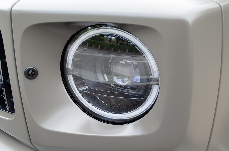 プロテクションフィルムを施工したMercedes-AMG G63 manufaktur Edition のヘッドライト