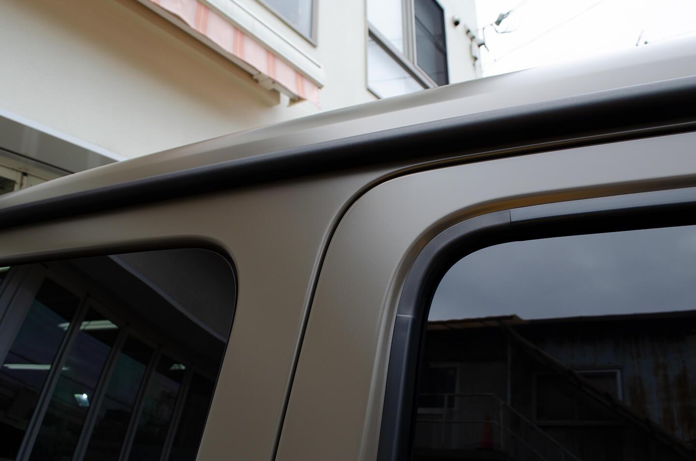 プロテクションフィルムを施工したMercedes-AMG G63 manufaktur Edition のドアエッジ