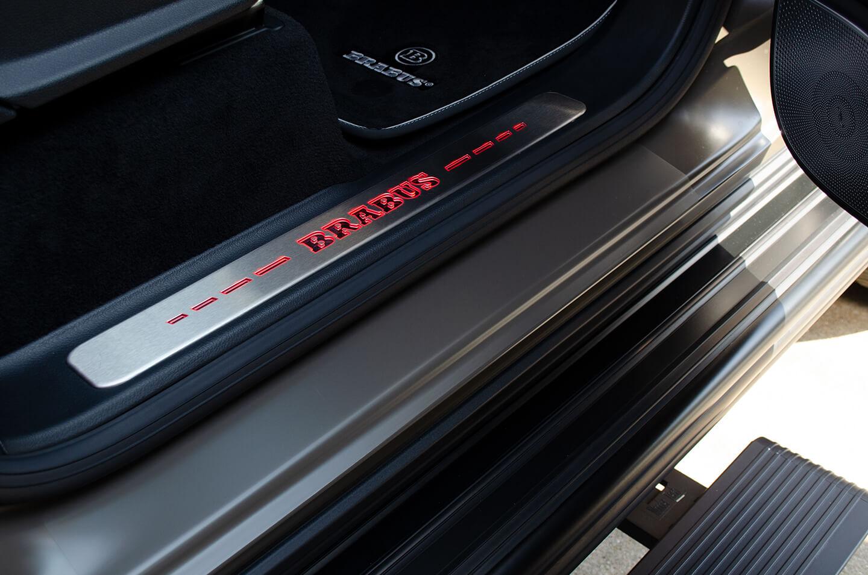 プロテクションフィルムとラッピングを施工したMercedes-AMG G63 manufakur edition brabus Custom のサイドステップ,ドアステップ,スカッフプレート