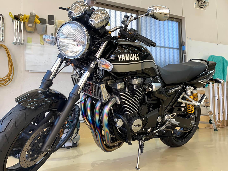 コーティング施工前の YAMAHA XJR 1300